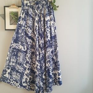 Neerus Print Maxi Skirt S